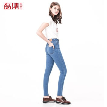 Fashion S- 6XL High Waist jeans High Elastic plus size Women Jeans woman femme washed casual skinny pencil Denim pants China