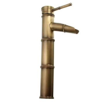 Antique Retro Faucets Carve Bathroom Tap Basin Mixer Brass Bronze Faucet Basin Cold Hot Water Mixer Taps Single Lever