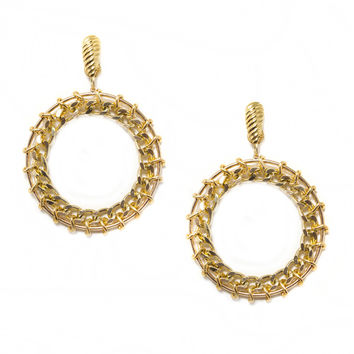 LAUREL DEWITT Gold Halo Earrings - 50% OFF