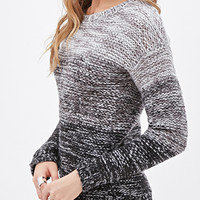 Marled Knit Ombré Sweater