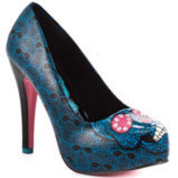 Savage Skull Heel - Turquoise, Iron Fist, $59.99, FREE 2nd Day Shipping!