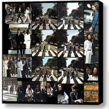 The Beatles Abbey Road photo shoot 8 X 8 inch framed print