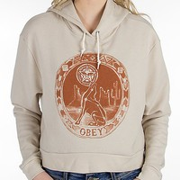 OBEY Star Gazer Cropped Sweatshirt