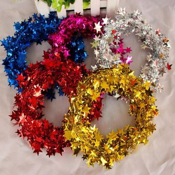 Wedding Decorations Handmade Ribbon Garland Wreath Christmas Door Wall Ornament Xmas Hanging Home Decor Party Supplies ano novo