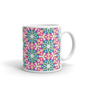 Hippy Watercolor Mug made in the USA by Leah Quinn Design