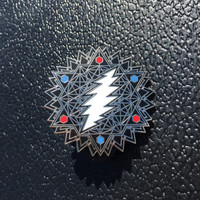 Silver 13 Point Tetrahedron Bolt Grateful Dead Lapel Hat Pins 1-100 limited edition