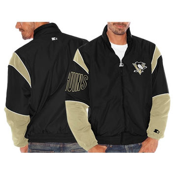 Pittsburgh Penguins Starter Gust Full Zip Jacket – Black