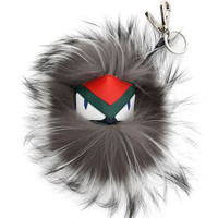 Fur Monster Charm For Bag, Blue/Gray - Fendi