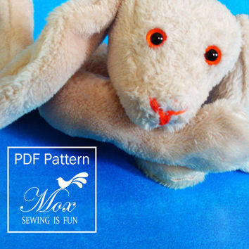 Bunny Babe sewing Pattern Soft toy PDF pattern Easy to sew softie PDF Instant Download Digital download