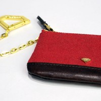 Diamond Chain Coin Pouch-Red at Primitive Shoes & Apparel