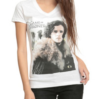 Game Of Thrones Jon Snow V-Neck Girls T-Shirt