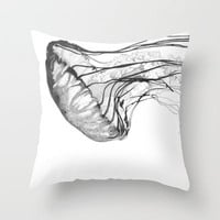 Medusozoa Throw Pillow by Edwardblakeedwards | Society6