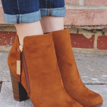Out & About Booties - Whiskey