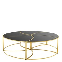 Black Glass Coffee Table Set | Eichholtz Carter