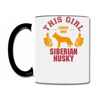 this girl loves her siberian husky t shirt design Coffee & Tea Mug