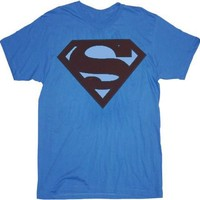 Superman Faded Maroon Original Logo T-shirt - Shirts Sheldon Has Worn - | TV Store Online