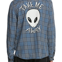RUDE Take Me Away Alien Plaid Woven