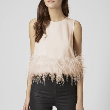 Feather Hem Shell Top