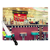 "Sylvia Cook ""Retro Diner"" Coca Cola Cutting Board"