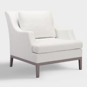White Evanston Indoor and Outdoor Occasional Armchair