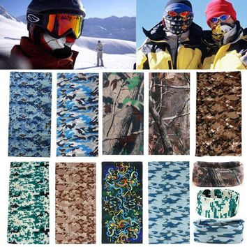 Multi Colors Camo Tube Hiking Scarf Bandana Head Face Mask Neck Snood For Outdoor Camp Cycling Polyester Fiber Camouflage Scarf