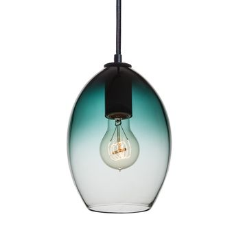 Hand Blown Blue Green Gradient Pendant Light