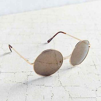 Disco Metal Round Sunglasses- Gold One