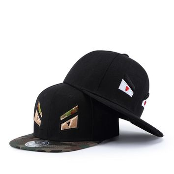 Black 54cm-60cm Skateboard Cap For Skate boarding Fit men's caps With Round Eaves 6 And High Quality Canvas Size Adjustable