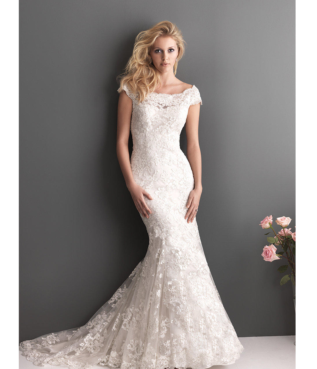 2013 Allure Bridal White Lace & from Unique Vintage