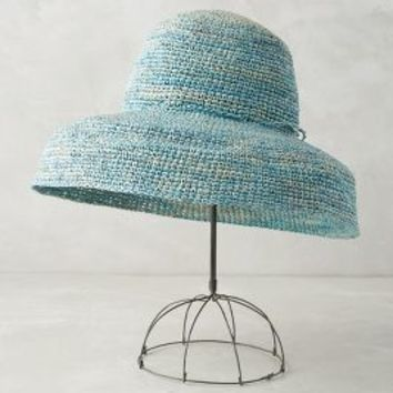 Jardines Sun Hat by Anthropologie in Blue Size: One Size Hats