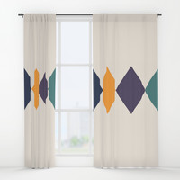 Shine Bright Like A Diamond Window Curtains by spaceandlines