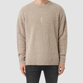 ALLSAINTS US: Mens Hannent Crew Sweater (Taupe Marl)
