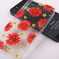 iPhone 6 case iPhone 6 plus Pressed Flower, iPhone 5/5s case, iPhone 4/4s case,  5c case Galaxy S4 S5 Note 2 note 3 Real Flower case NO:F49