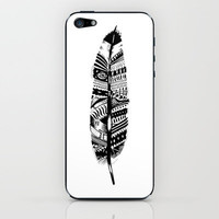 Feather time  iPhone & iPod Skin by Animaux Circus | Society6