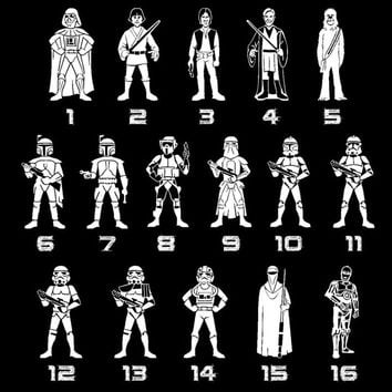 Star Wars Family Of Dad Car Sticker 1-13 Cartoon Motorcycle Vinyl Decals Silver C7-1314