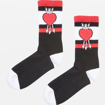 Heart and Arrow Socks