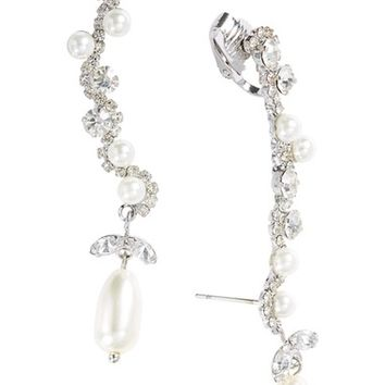 Cristabelle Imitation Pearl & Crystal Clip Ear Crawlers | Nordstrom