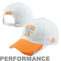 adidas Tennessee Lady Vols Sideline Coaches Performance Hat - White/Tennessee Orange