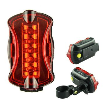 2018 New Ultra Bright 5 LED Bike Bicycle Rear Back Lamp Light Flashlights Lamp Bike Light Accessories Free shiping