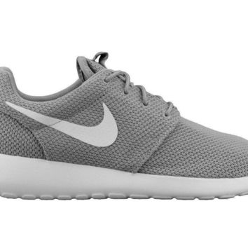 Nike Roshe One Mens 511881-023 Wolf Grey White Mesh Running Shoes Size 9