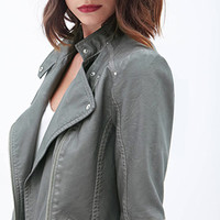 LOVE 21 Faux Leather Moto Jacket