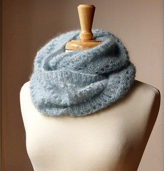 Knitting Patterns For Circular Scarf : Fall Winter Fashion - Snood KNITTING from AtelierTPK on Etsy