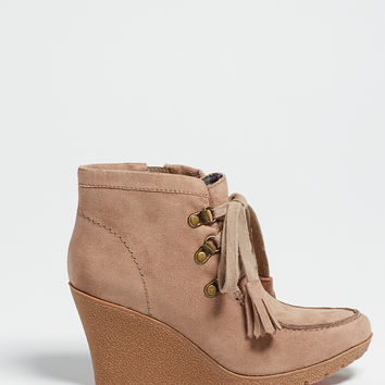 hilda wedge bootie in taupe