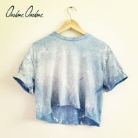 Galaxy Crop Top Ombre Ombre Dip Dye TShirt by OmbreOmbreOfficial