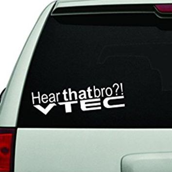 Dabbledown Hear That Bro vtec Car Window Laptop Windshield Banner Lettering Decal Sticker Decals Stickers Girl JDM Drift sec 1