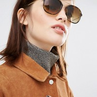 Ray Ban Sunglasses with Double Metal Brow Bar in Tortoise at asos.com