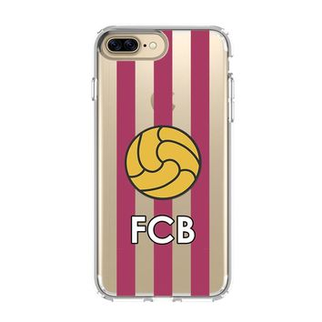 FC BARCELONA LOGO iPhone 4/4S 5/5S/SE 5C 6/6S 7 8 Plus X Clear Case