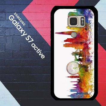 London Skyline Watercolor V0202 Samsung Galaxy S7 Active Case