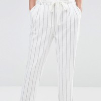 Oasis Stripe Peg Paperbag Pants