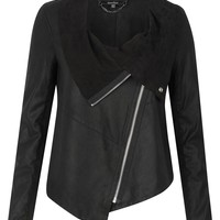 Muubaa Alexis Drape Suede Jacket in Black - Muubaa from Muubaa UK